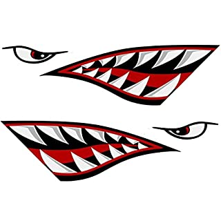 Alemon Shark Mouth Reflective Decals Sticker Fishing Boat Canoe Car Truck Kayak Graphics Accessories