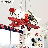 Lfnrr Hochwertige Retro Kinderzimmer Lichter Jungen Schlafzimmer Flugzeug Kronleuchter Individuelle Kreative Beleuchtung Led-Zimmer Kronleuchter Für Kinder, Gelb-Weißes Licht