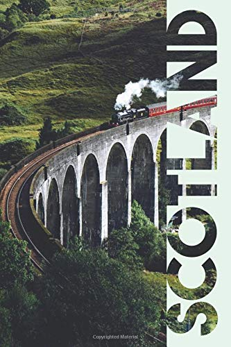 Scotland: Scottish Railway Compact Composition Book Notebook Journal Diary for Men, Women, Teen and Kids for Notes on Flights to Scotland from Boston