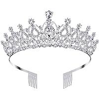 Nsiwem Corona Regina Tiara Corona di Cristallo Nuziale diadema con Cristalli Strass con Pettine Principessa diadema…