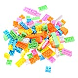 #4: Vibgyor Vibes™ 88 pcs, 6 coloured Building Blocks-Multiple colours, Mind development activity for the little ones.