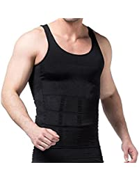 Rapid® Men Vest Innerwear Slim Look Tummy Tucker Body Shaper Vest For Men (Black)