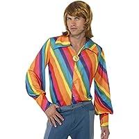 Smiffy's - Camicia per travestimento Anni '70, Uomo, Multicolore, taglia: