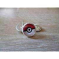 Pin's/badge Pokeball - pokémon - Cabochon 12 mm ø