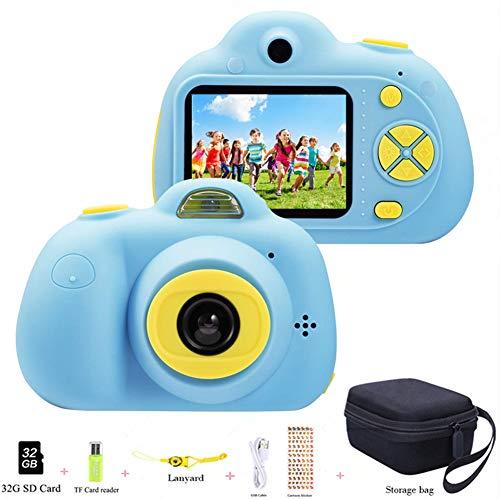 Caméra Enfant ToyZoom Selfies Double Objectif Appareil Photo Numérique Enfant 8MP 1080P FHD Caméra avec 2.0 Pouces, Zoom numérique 4X, Jouet Cadeau pour Garçons Filles (Bleu)