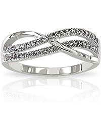Infinity - Bague Infinity Symbole Infini Argent 925/1000 Oxydes de Zirconium