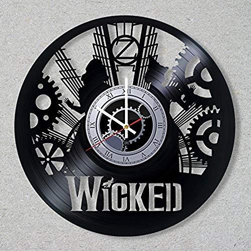 AIYOUBU Vinyl Record Wanduhr The Musical BroadwayDecoration Einzigartige Geschenkideen für Freunde His Boys and Girls World Art Design
