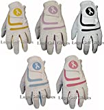 5 Ladies Cabretta Leather Golf Gloves Coloured Lycra - Best Reviews Guide