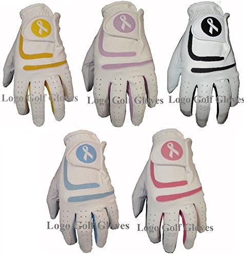 5-Ladies-Cabretta-Leather-Golf-Gloves-Coloured-Lycra-Gator
