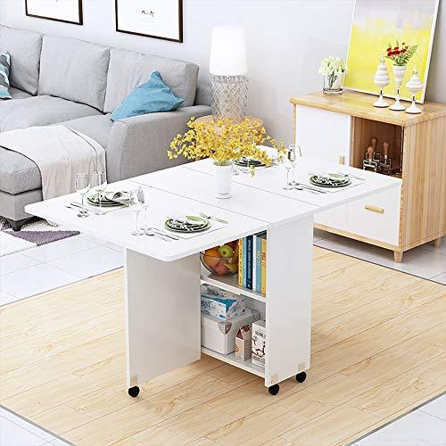 QJJML Wohnzimmer Mobilen Tisch, Einfache Faltbare Haushalts Rad Multifunktions Esstisch, Klapp Lagerung, Fest Und Stabil,E-1.4M - Klapp-esstisch
