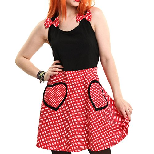 Cupcake Cult - Robe - Femme * taille unique Black/Red