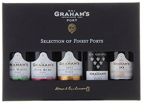 Grahams Mini Port Wine Selection Presentation Pack, 5 cl (Case of 5)