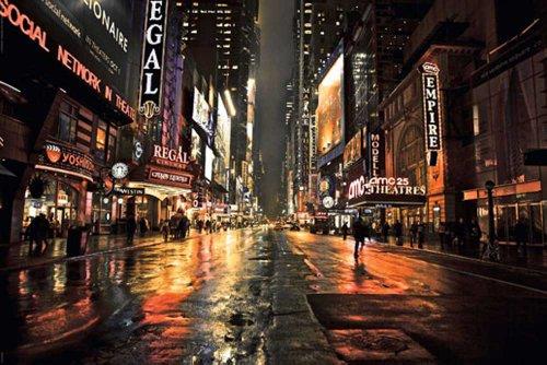 Empireposter - New York - Manhattan 42nd Street - Größe (cm), ca. 91,5x61 - Poster
