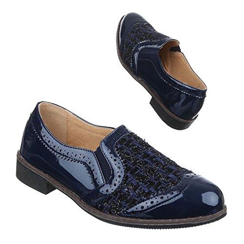 Sapatas Baixos Das Chinelo Ch Azul 01 Senhoras Stretch 063 Sapatos rrR4BO