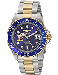 Invicta Disney Limited Edition Men's Analogue Classic Automatic Watch with Stainless Steel Bracelet – 22778
