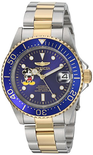 Invicta 22778 Disney Limited Edition - Mickey Mouse Unisex Wrist Watch Stainless Steel Automatic Blue Dial