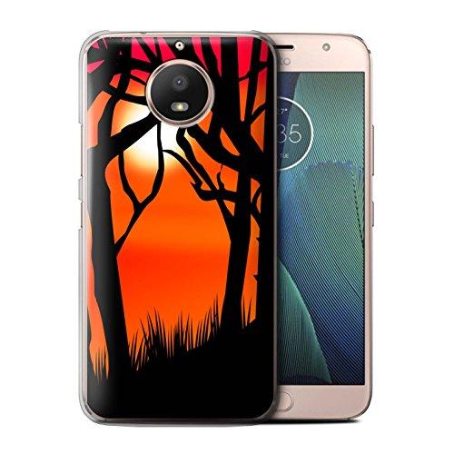 für Motorola Moto E4 Plus 2017 / Gruseligen Wald Muster/Halloween Szene Kollektion ()