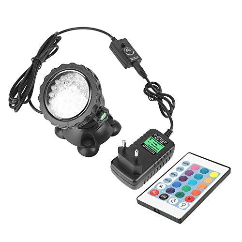 Fdit sotto acqua luce LED Luci retrattile con US spina adattatore 36LED impermeabile per laghetto piscina acquario Giardino Quadrato 2