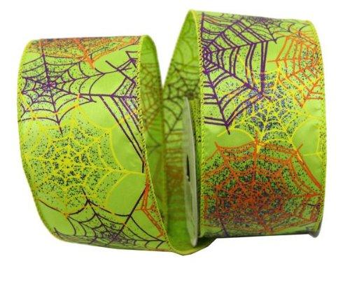Renaissance 20002,5x 10yd grün mit Multicolor Spider Web Band (Streifen Grünen Spider)