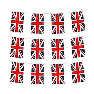 GrassVillage MEGA VALUE 24 Flags Quality ROYAL WEDDDING Union Jack Flag Bunting 10m / 30 FEET Party Decoration Banner Bunting