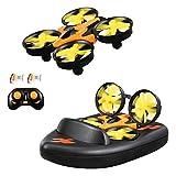 HELIFAR F36 Mini Drone 2.4G 4CH 6 Axes Contrôleur Gyroscopique Mode sans tête avec Télécommande RC Quadcopter Drone RTF pour Enfante Débutant(Orange) Cadeau La Fête des Pères