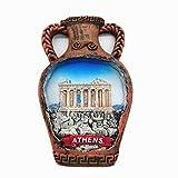 MUYU Magnet Imán para Nevera con diseño de Atenas en 3D y Grecia, para decoración del hogar y la Cocina, Adhesivo magnético para Nevera, Regalo de Recuerdo