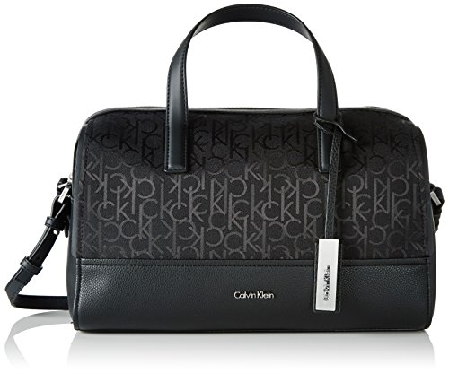 Calvin Klein Damen MARIN4 LOGO  DUFFLE Tornistertasche Schwarz (BLACK )