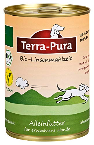 Terra Pura Bio Hundefutter Linsenmahlzeit 350 g, 12er Pack (12 x 350 g)