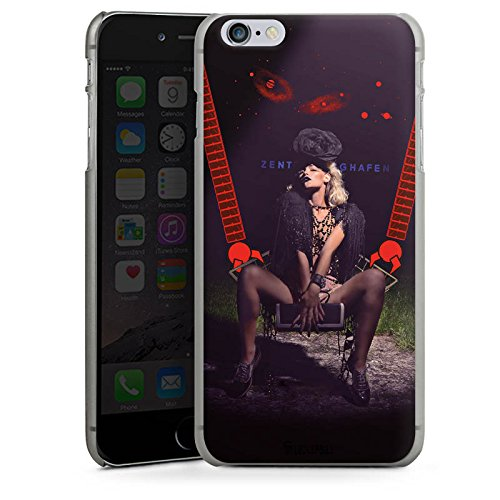 Apple iPhone X Silikon Hülle Case Schutzhülle Frau Roboter Hut Hard Case anthrazit-klar