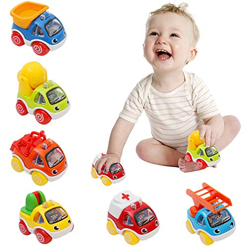 OKPOW Toy Cars for Kids, Pull Ba...