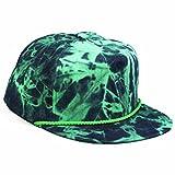 Agora Tie Dye Denim Fresh Prince Snapback Hat Mütze