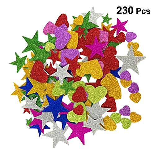 Toyvian Pegatinas Purpurina Forma Estrella Espuma