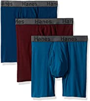 Hanes Men's CFFBC3ASTL 3 Boxers, Multicolour (Assor
