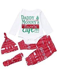 POLP Niño Conjunto Bebe niña Invierno Ropa Bebe niña Invierno Pijama Bebe Navidad Regalo Unisex Bebé