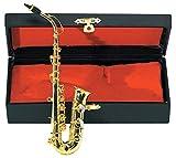 Gewa 980580 Instrument miniature Saxophone alto avec Etui 15 cm