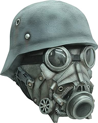 Chemical Warfare Gas Mask and Helmet Latex Halloween Head Mask by CC