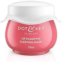 Dot & Key LIP PLUMPING SLEEPING MASK Vitamin C + E MINI, 15ml, Lip mask for dry lips