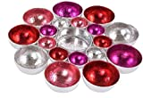 Hoff Interieur stimmungvoller Kleiner Teelicht-Halter Tisch-Deko Gartentisch-Deko Wand-Deko Farbenspiel 2 Formen Rund Oder Eckig Sowie 2 Farbvarianten Möglich (Pink, Rund 15,5 cm x 2,5 cm)