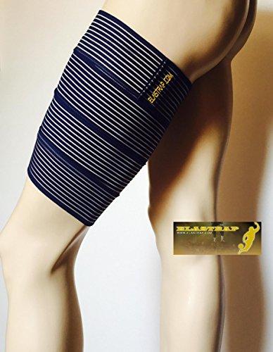 Oberschenkelbandage – Kompressionsmanschette – Oberschenkel Schutz und Halt – Sport strapping – Muskelverletzungen: Klappen Verspannungen – Einheitsgröße 180 x 7,5 cm – 2 Farben