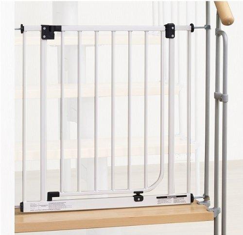 Impag® Treppenschutzgitter 73 - 142 cm für einseitiges Geländer 2 Y-Adapter zum Klemmen ohne Bohren EasyStep + 20