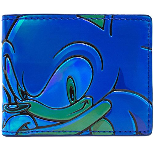 Sega Sonic Schließen Gesicht Blau Portemonnaie (Aus Kostüm Knuckles Sonic)