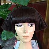 WUX Nueva moda Temperamento Ultra-corta Mullida Explosión Revista Corta peluca de pelo rizado Show Lead Dance Singer peluca (color : B)