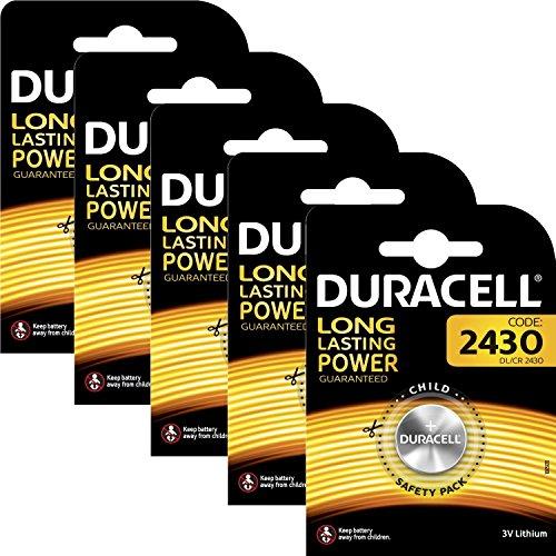 SeeLank DL2430 Duracell Lithium Batterien, CR24302430K2430L, 5 Stück