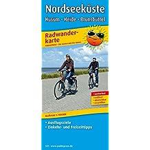 Nordseeküste, Husum - Heide - Brunsbüttel: Radwanderkarte mit Ausflugszielen, Einkehr- & Freizeittipps, wetterfest, reissfest, abwischbar. 1:100000 (Radkarte/RK)