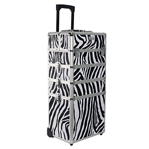 Kosmetikkoffer Trolley in XXL - Zebra