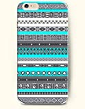 OOFIT Apple iPhone 6 Case 4.7 - Aztec Indian Chevron Zigzag Pattern Blue And Grey Antique Aztec Ethic Tribe Pattern