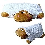 2 in 1 Tierkissen Schaf Plüschkissen Kissen Kuscheltier liegend stehend