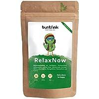 """RelaxNow"" Tee von Buntfink, Moringa + Hnafblätter + Melissenblätter + Rooibos, 60g natürlicher Kräutertee aus Deutschland"