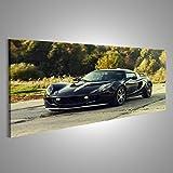 Cuadro Cuadros Negro Lotus coche deportivo Impresión sobre lienzo - Formato Grande - Cuadros modernos
