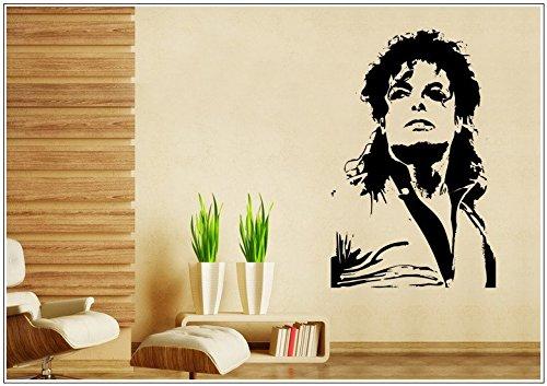 Wandtattoo wandaufkleber wandsticker photo Porträt Michael Jackson tanzen wph042(Printed Sticker,ca.15 x (Michael Jackson Dekorationen)
